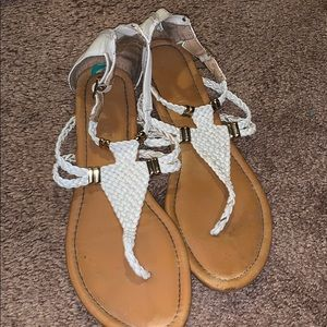 Report White Sandals